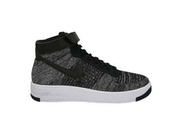 Nike Air Force 1 Flyknit Mid черно-белые