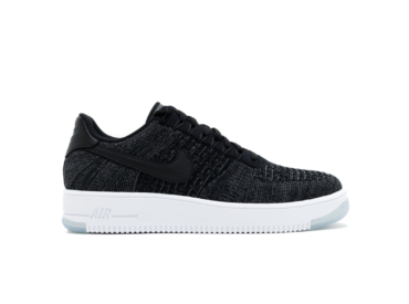 nike air force 1 flyknit low черные
