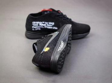 Nike Flyknit Racer Black x Off-White