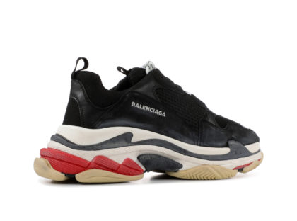 Balenciaga Triple S Black White Red