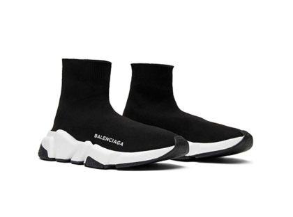 Balenciaga Speed Trainer Mid Black White Black