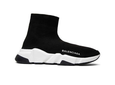 Balenciaga Speed Trainer Mid Black White Black_3