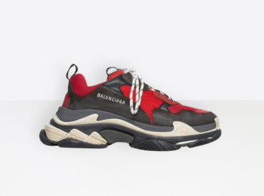 BALENCIAGA TRIPLE S TRAINERS RED BLACK_2