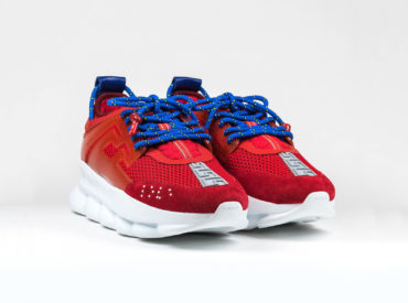 VERSACE CHAIN REACTION RED SNEAKER