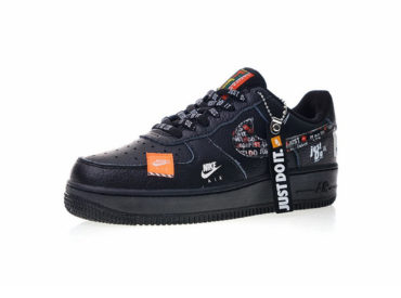 NIKE Air Force 1 `07 PRM JDI Low White Black Total Orange